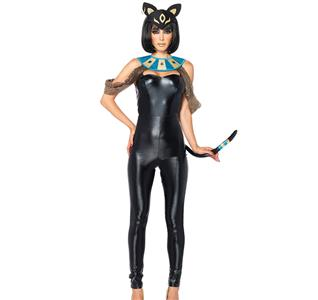 Sexy Animal Costume,Sexy Cat Jumpsuit Costume, Black Catsuit Costume, Halloween Costume, #N11360
