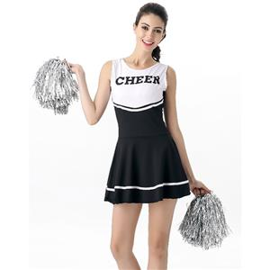 Sideline Spirit Costume, Sexy Cheerleader Costume, High School Cheerleader Costume, #N12603