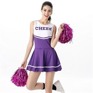 Sideline Spirit Costume, Sexy Cheerleader Costume, High School Cheerleader Costume, #N12606