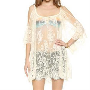Sexy Tonic for Women, Women's Lace Blouse Top, Lace Off the Shoulder Blouse Tops, Sexy Lace Blouse, #N12739