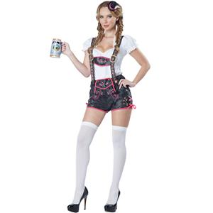 German Beer Beauty Costume, Oktoberfest Costume for girl, Beer girl Costume, Cow girl costume, #N11388