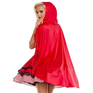 Sexy Women's Little Red Riding Hood Mini Dress Cosplay Costume N18684