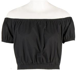 Sexy Off the Shoulder T-shirt, Women's Crop Top, Sexy Blouse, #N12185