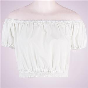 Sexy Off the Shoulder T-shirt, Women's Crop Top, Sexy Blouse, #N12184