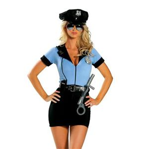 Sexy Policewoman Uniform Adult Cop Cosplay Costume Set N18429