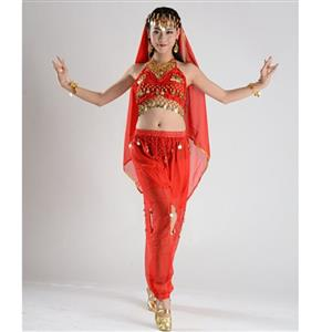 Sexy Genie Costume, Lamp Fancy Dress Costume, Women's Genie Halloween Costume,Sexy Belly Dance Costume, Sexy Pewrsia Dancer Costume, #N18895