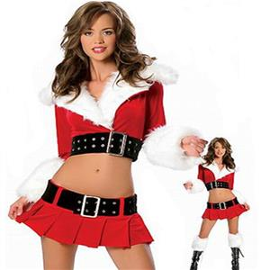 Sexy Christmas Costume, Red Velet Christmas Costume, Christmas Costume for Women, Cute Christmas Skirt, Miss Santa's Christmas Costume, #XT18629
