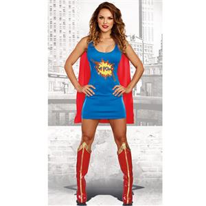 Cartoon Character Costume, Superhero Dress Costume, Sexy Halloween Costume, Women's Hero Costume, Women's Comic Book Hero, #N15465
