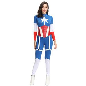 Cartoon Character Costume, Superhero Cosplay Costume, Sexy Halloween Costume, Women's Hero Costume, Women's Comic Book Hero, Captain Role Play Costume, #N19126