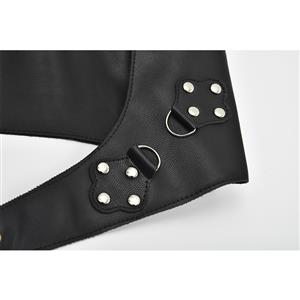 Steampunk PU Leather Strappy Tank Eyelet Buckle Cinch Underbust Corset Belt Harness N18791