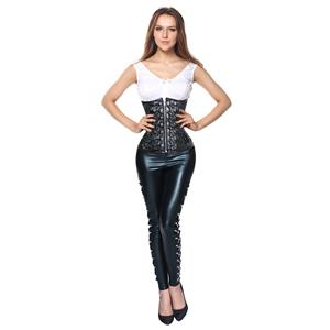 Steampunk Corset Pant Set for Women Sexy, Steampunk Outfit for Women, Two-piece Gothic Punk Costume, Sexy Punk Clothing for Women, #N12768