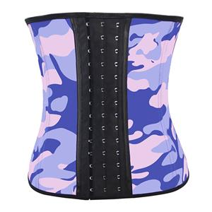 Colorful Steel Bone Underbust Corset, Latex Corset, Camouflage Patterns Underbust Corset, Cheap Women's Corset, Plus Size Corset, Waist Cincher, #N11550