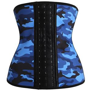 Latex Corset for Sport, Camouflage Latex Corset, Cheap Women's Latex Corset, Plus Size Corset, Waist Cincher, Waist Training Corset, #N12448
