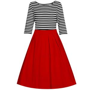 Casual Dresses for Women 1960, Vintage Dresses 1950's, Vintage Dress for Women, Gardon Dresses, Cheap Swing Dress, #N12889