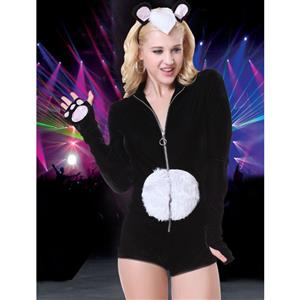 Bamboo Babe Panda Bear Costume, Bamboo Babe Costume, Furry Panda Costume, Furry Panda Rave Outfit, Animal Costume, #N14718