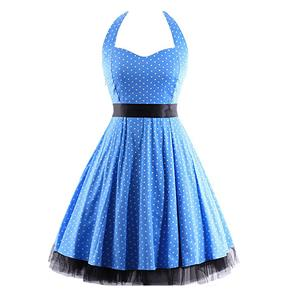 Retro Dresses for Women, Vintage Dresses for Women, Sexy Dresses for Women Cocktail Party, Casual Mini dress, Polka Dot Swing Daily Dress, #N14846