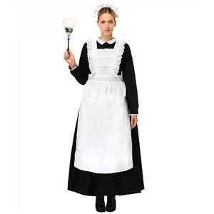 Traditional House Maid Costume, French Maide Costume, 3 Piece Maiden Cosplay Costume, Black and White Maid Costume, Halloween Maid Cosplay Adult Costume, #N16009