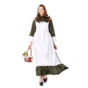 Traditional House Maid Costume, French Maide Costume, 2 Piece Maiden Cosplay Costume, Black and White Maid Costume, Halloween Maid Cosplay Adult Costume, #N19428