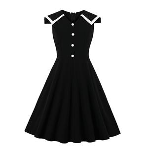 Fashion Casual OL Dress, Cute Summer Swing Dress, Retro Dresses for Women 1960, Vintage Dresses 1950's, Plus Size Summer Dress, Vintage Lapel OL Dress, Vintage Office Lady Dresses for Women, Vintage Spring Dresses for Women, #N19567