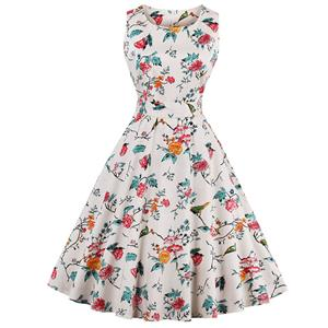 Retro Dresses for Women 1960, Vintage Dresses 1950's, Vintage Dress for Women, Floral Print Dress, Cheap Party Dress, #N12956