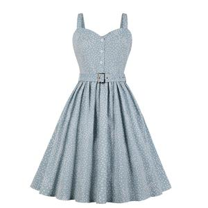 Retro Polka Dots Dress, Fashion Polka Dots High Waist A-line Swing Dress, Retro Dresses for Women 1960, Vintage Dresses 1950's, Plus Size Summer Dress, Vintage Slip Dress Dress for Women, Simple Dresses for Women, Vintage Spring Dresses for Women, #N18982