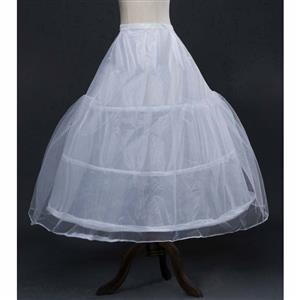 Underskirt Petticoat slip for Wedding Bridal Dress, Wedding Party Petticoat, 3-hoops Underskirt, Party Dress Petticoats Bridal Slips, #N11120
