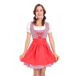 Sexy Maid Costume, Women's Beer Girl Costume, Bavarian Beer Girl Costume, Oktoberfest Wench Adult Dirndl Dress, #N14606
