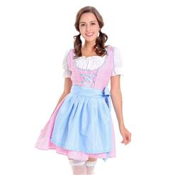 Sexy Maid Costume, Women's Beer Girl Costume, Bavarian Beer Girl Costume, Oktoberfest Wench Adult Dirndl Dress, #N14607