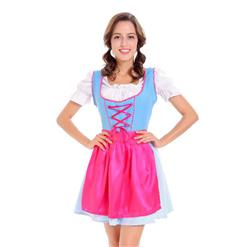 Sexy Maid Costume, Women's Beer Girl Costume, Bavarian Beer Girl Costume, Oktoberfest Wench Adult Dirndl Dress, #N14605
