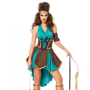 Women's Celtic Warrior Green Dress Costume, Women's Solider Costume, Deluxe Warrior Costume, #N12601