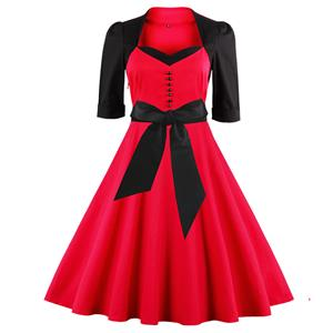 Retro Dresses for Women 1960, Vintage Dresses 1950's, Vintage Dress for Women, Sexy Dresses for Women, Cheap Cocktail Party Dress, Christmas Dress, #N12438