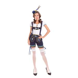 German Beer Beauty Costume, Oktoberfest Costume for Girl, Beer Girl Costume, Cow Girl Costume, Deluxe Bavarian Womens Costume, #N14602