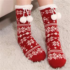Woolen Knitted Socks, Household Socks, Comfortable Socks, Thick Stockings, Winter Socks, Slipper Socks, #HG12117
