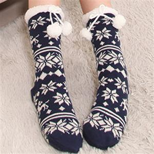 3D Cartoon Animal Woolen Knitted Socks, Household Socks, Comfortable Socks, Thick Stockings, Winter Socks, Slipper Socks, #HG12118