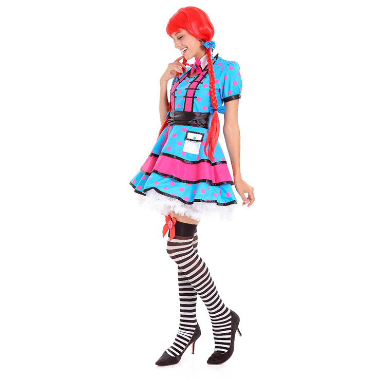Sexy Women's Adult Rag Doll Costume N14624