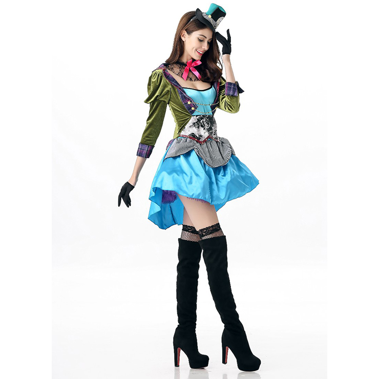 LADIES ALICE IN WONDERLAND COSTUMES ALICE MAD HATTER