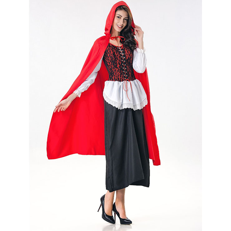 Deluxe Fairytale Red Riding Hood Adult Cosplay Halloween Costume N17167