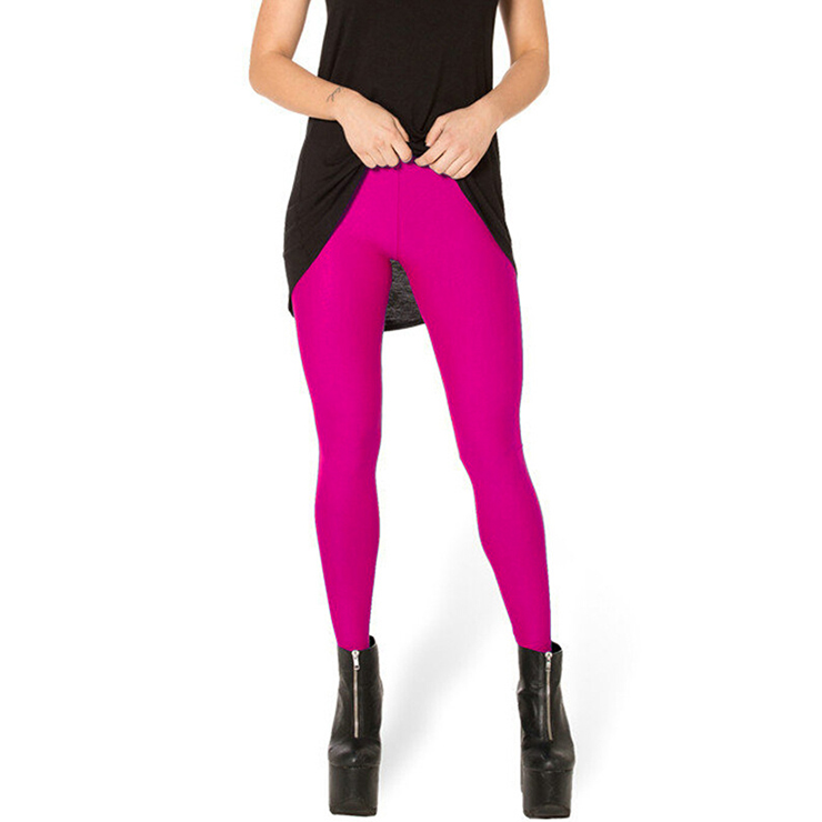 Fashion Stretchy Plain Pants Tights Workout Leggings Yoga Running Exercise L11720