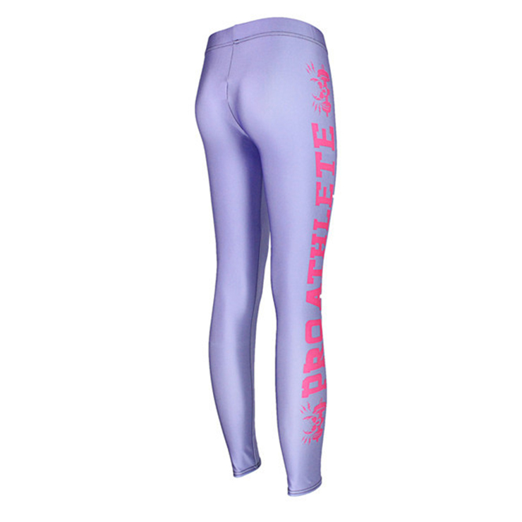 Fashion Light Purple Leggings for Yoga Running Workout Exercise L12731