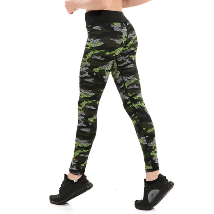 Women's Ultra Soft Camouflage Printed Stretchy High Waist Yoga Workout Leggings L16246