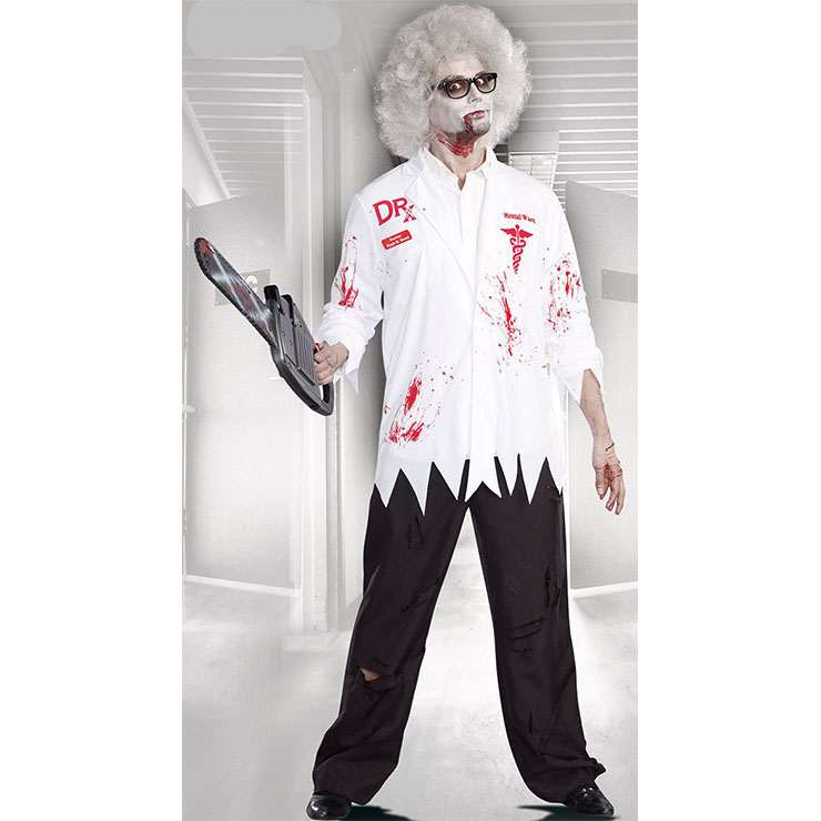 Men's Scary Doctor Costume, Scary Doctor Cosplay Costume, Horrible Doctor Costume Men, Scary Doctor Role-palying Costume, Halloween Men Horrible Costume, #N18045