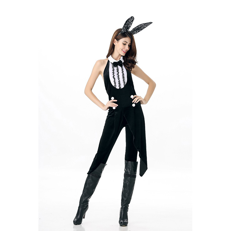 Sexy Black Bunny Gril Halloween Costume  N11670