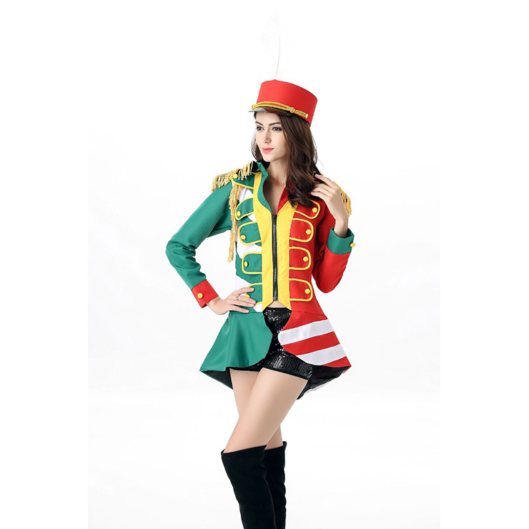 Honor Majorette Drum Leader Baton Gril Halloween Costume Uniform N11671