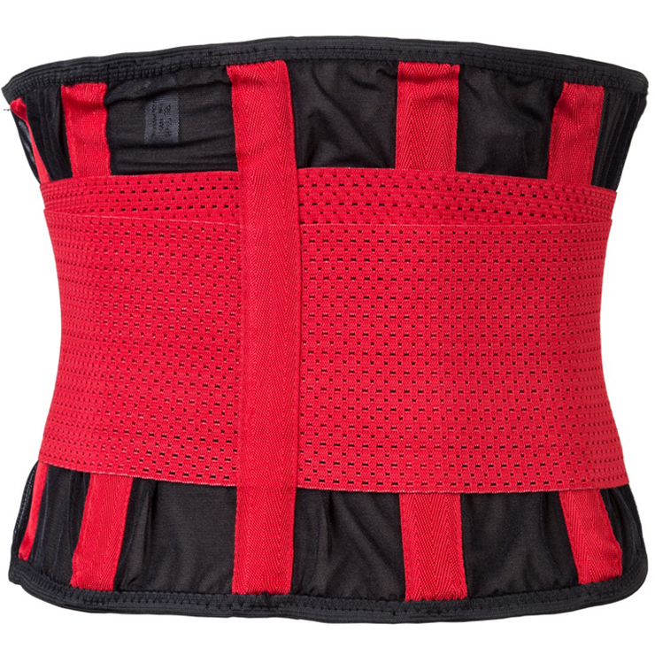 Unisex Red Neoprene Stripe Waist Trainer Body Shaper Belt N15287