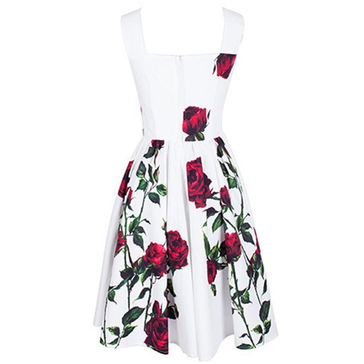 Vintage Floral Print Dress 105