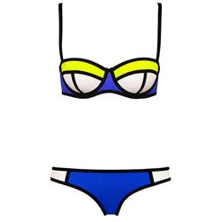 Sexy Royal blue Swimsuit, Fashion Push Up Padded Bikini Set, Cheap Women's Swimwear Beachwear, Hot Sale Bikini Set, #BK10289
