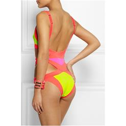 Split Color Block Monokini BK8089