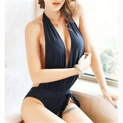 Halter Backless One-piece Swimsuit, Three-point Deep V Neck Teddy Lingerie, Halter  Deep V Neck One-piece Swimsuit, Sexy Three-point Bodysuit Lingerie, Halter V Neck Backless Teddy Lingerie, #BK17433