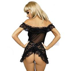 Lace and Mesh Babydoll C3089