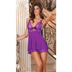 Mesh and Lace Babydoll, Mesh and Lace Baby doll, Purple lingerie Babydoll, #C3285